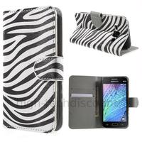 Housse etui coque portefeuille PU cuir pour Samsung Galaxy J1 + film ecran - ZEBRE