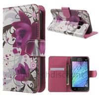 Housse etui coque portefeuille PU cuir pour Samsung Galaxy J1 + film ecran - LOTUS