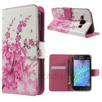 Housse etui coque portefeuille PU cuir pour Samsung Galaxy J1 + film ecran - CERISIER