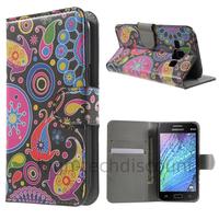 Housse etui coque portefeuille PU cuir pour Samsung Galaxy J1 + film ecran - PAISLEY