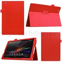 Housse etui coque pochette PU cuir pour Sony Xperia Z4 Tablette + film ecran - ROUGE