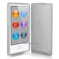Housse etui coque pochette silicone gel fine pour Apple iPod Nano 8eme generation + film ecran - BLANC
