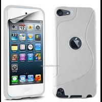 Housse etui coque pochette silicone gel fine pour Apple iPod Touch 6eme generation + film ecran - BLANC