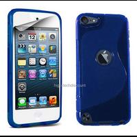Housse etui coque pochette silicone gel fine pour Apple iPod Touch 6eme generation + film ecran - BLEU