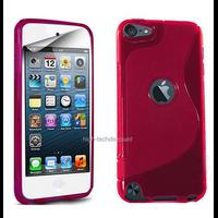 Housse etui coque pochette silicone gel fine pour Apple iPod Touch 6eme generation + film ecran - ROSE