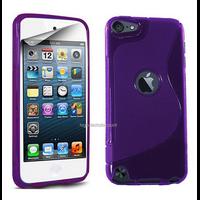 Housse etui coque pochette silicone gel fine pour Apple iPod Touch 6eme generation + film ecran - MAUVE
