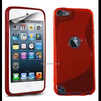 Housse etui coque pochette silicone gel fine pour Apple iPod Touch 6eme generation + film ecran - ROUGE