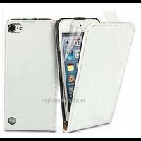 Housse etui coque pochette PU cuir fine pour Apple iPod Touch 6eme generation + film ecran - BLANC