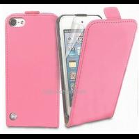 Housse etui coque pochette PU cuir fine pour Apple iPod Touch 6eme generation + film ecran - ROSE