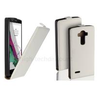 Housse etui coque pochette PU cuir fine pour LG G4 Stylus + film ecran - BLANC