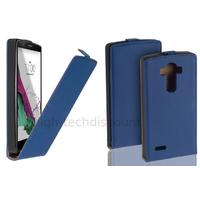 Housse etui coque pochette PU cuir fine pour LG G4 Stylus + film ecran - BLEU