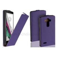 Housse etui coque pochette PU cuir fine pour LG G4 Stylus + film ecran - MAUVE