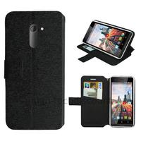 Housse etui coque pochette portefeuille pour Archos 50c Neon + film ecran - NOIR