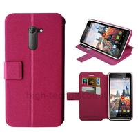 Housse etui coque pochette portefeuille pour Archos 50c Neon + film ecran - ROSE