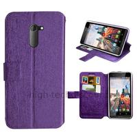 Housse etui coque pochette portefeuille pour Archos 50c Neon + film ecran - MAUVE