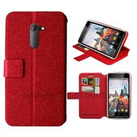 Housse etui coque pochette portefeuille pour Archos 50c Neon + film ecran - ROUGE