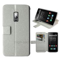 Housse etui coque pochette portefeuille pour OnePlus 2 + film ecran - BLANC