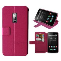 Housse etui coque pochette portefeuille pour OnePlus 2 + film ecran - ROSE