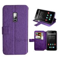 Housse etui coque pochette portefeuille pour OnePlus 2 + film ecran - MAUVE