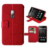 Housse etui coque pochette portefeuille pour OnePlus 2 + film ecran - ROUGE