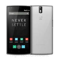Housse etui coque pochette silicone gel fine pour OnePlus 2 + film ecran - BLANC TRANSPARENT