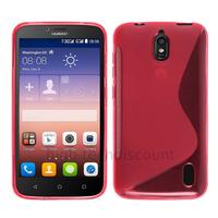 Housse etui coque pochette silicone gel fine pour Huawei Ascend Y625 + film ecran - ROSE