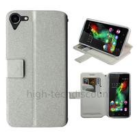 Housse etui coque pochette portefeuille pour Wiko Selfy 4G + film ecran - BLANC