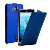 Housse etui coque pochette PU cuir fine pour Acer Liquid Jade S + film ecran - BLEU