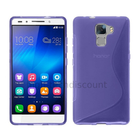 Housse etui coque pochette silicone gel fine pour Huawei Honor 7 + film ecran - MAUVE
