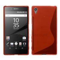 Housse etui coque pochette silicone gel fine pour Sony Xperia Z5 Premium + film ecran - ROUGE