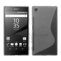 Housse etui coque pochette silicone gel fine pour Sony Xperia Z5 Premium + film ecran - TRANSPARENT