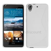 Housse etui coque pochette silicone gel fine pour HTC Desire 626 + film ecran - BLANC
