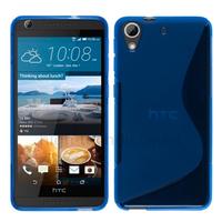 Housse etui coque pochette silicone gel fine pour HTC Desire 626 + film ecran - BLEU