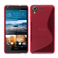 Housse etui coque pochette silicone gel fine pour HTC Desire 626 + film ecran - ROSE