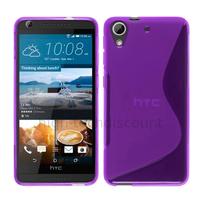 Housse etui coque pochette silicone gel fine pour HTC Desire 626 + film ecran - MAUVE