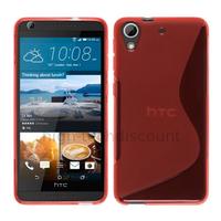 Housse etui coque pochette silicone gel fine pour HTC Desire 626 + film ecran - ROUGE