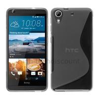 Housse etui coque pochette silicone gel fine pour HTC Desire 626 + film ecran - TRANSPARENT
