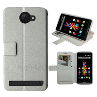 Housse etui coque pochette portefeuille pour Archos 40d Titanium + film ecran - BLANC