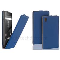 Housse etui coque pochette PU cuir fine pour Sony Xperia Z5 + film ecran - BLEU
