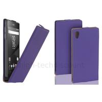 Housse etui coque pochette PU cuir fine pour Sony Xperia Z5 + film ecran - MAUVE