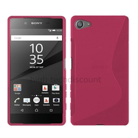Housse etui coque pochette silicone gel fine pour Sony Xperia Z5 Compact + film ecran - ROSE