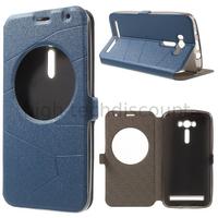 Housse etui coque portefeuille view case pour Asus Zenfone 2 Laser ZE550KL + film ecran - BLEU