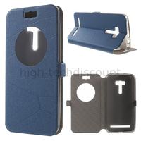 Housse etui coque pochette portefeuille view case pour Asus Zenfone Selfie ZD551KL  + film ecran - BLEU