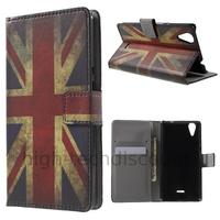 Housse etui coque pochette portefeuille PU cuir pour Wiko Rainbow Lite 4G + film ecran - UK
