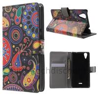 Housse etui coque pochette portefeuille PU cuir pour Wiko Rainbow Lite 4G + film ecran - PAISLEY