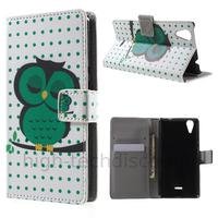 Housse etui coque pochette portefeuille PU cuir pour Wiko Rainbow Lite 4G + film ecran - HIBOU