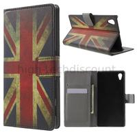 Housse etui coque pochette portefeuille PU cuir pour Sony Xperia Z5 + film ecran - UK