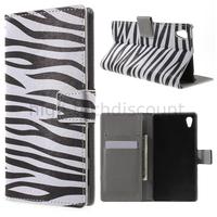 Housse etui coque pochette portefeuille PU cuir pour Sony Xperia Z5 + film ecran - ZEBRE