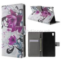 Housse etui coque pochette portefeuille PU cuir pour Sony Xperia Z5 + film ecran - LOTUS
