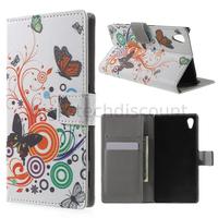 Housse etui coque pochette portefeuille PU cuir pour Sony Xperia Z5 + film ecran - PAPILLONS